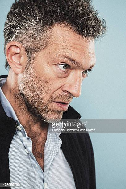 Actor Vincent Cassel is photographed for Paris Match on June 17 2015 in Paris France