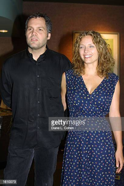 Actor Vincent D ''Onofrio and his companion Corrine attend the premiere of the film Happy Accidents August 22 2001 in New York City