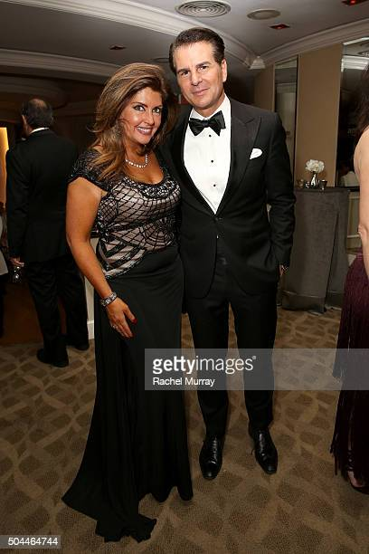 Actor Vincent De Paul and guest attend Amazon's Golden Globe Awards Celebration at The Beverly Hilton Hotel on January 10 2016 in Beverly Hills...