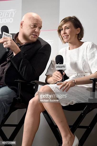 Actor Vincent D'Onofrio and actress Vera Farmiga attend the Variety Studio presented by Moroccanoil at Holt Renfrew during the 2014 Toronto...