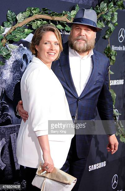 Actor Vincent D'Onofrio and Carin van der Donk arrive at Universal Pictures World Premiere of 'Jurassic World' at Dolby Theatre on June 9 2015 in...