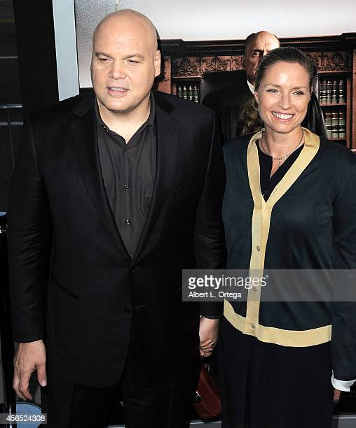 Actor Vincent D'Onofrio and Carin Van Der Donk arrive for the Premiere Of Warner Bros Pictures And Village Roadshow Pictures' The Judge held at AMPAS...