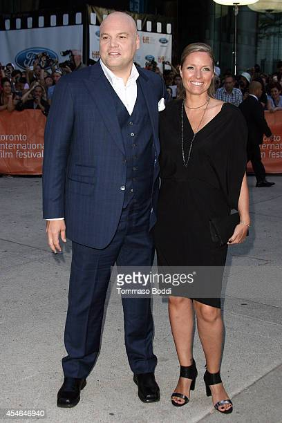 Actor Vincent D'Onofrio and Carin van der Donk attend The Judge premiere held at at Roy Thomson Hall on September 4 2014 in Toronto Canada