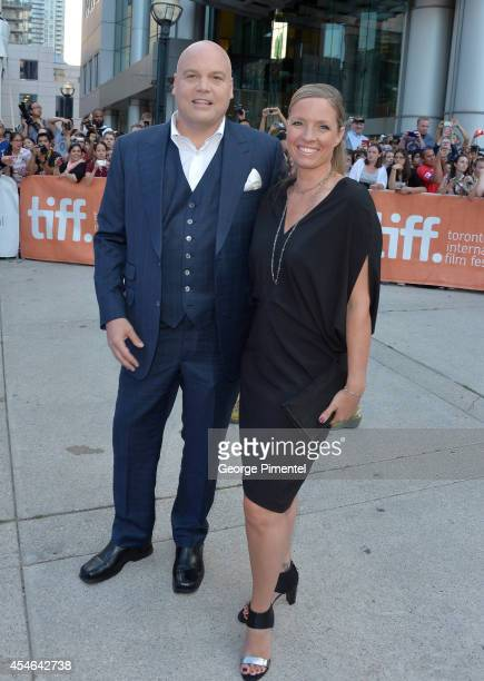 Actor Vincent D'Onofrio and Carin van der Donk attend The Judge premiere during the 2014 Toronto International Film Festival at Roy Thomson Hall on...