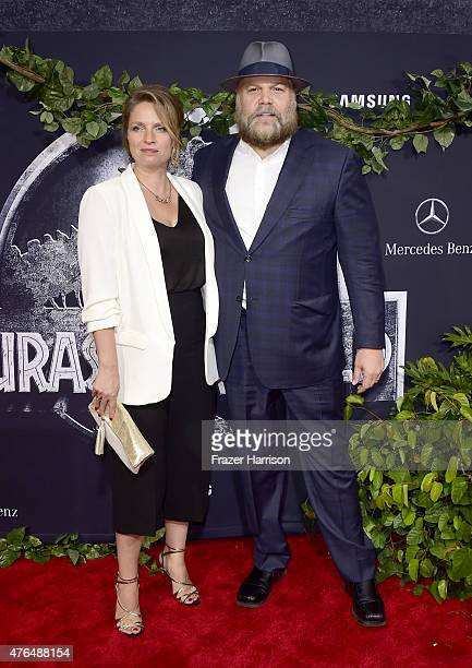 Actor Vincent D'Onofrio and Carin van der Donk attend the Universal Pictures' Jurassic World premiere at Dolby Theatre on June 9 2015 in Hollywood...