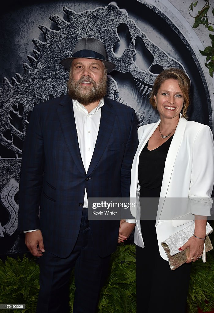 Actor Vincent D'Onofrio (L) and Carin van der Donk attend the Universal Pictures' 'Jurassic World' premiere at the Dolby Theatre on June 9, 2015 in Hollywood, California.