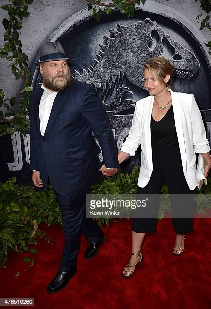 Actor Vincent D'Onofrio and Carin van der Donk attend the Universal Pictures' Jurassic World premiere at the Dolby Theatre on June 9 2015 in...
