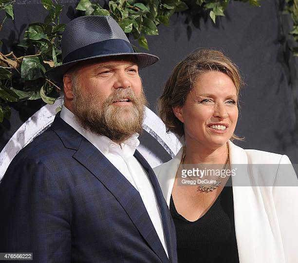 Actor Vincent D'Onofrio and wife Carin van der Donk arrive at the World Premiere of Jurassic World at Dolby Theatre on June 9 2015 in Hollywood...