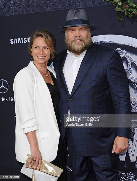 Actor Vincent D'Onofrio and wife Carin van der Donk arrive at the World Premiere of 'Jurassic World' at Dolby Theatre on June 9 2015 in Hollywood...