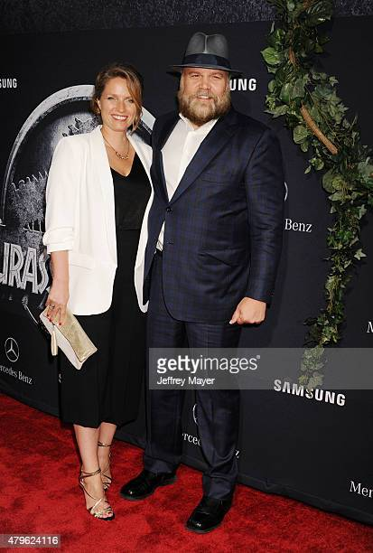 Actor Vincent D'Onofrio and wife Carin van der Donk arrive at the 'Jurassic World' World Premiere at Dolby Theatre on June 9 2015 in Hollywood...