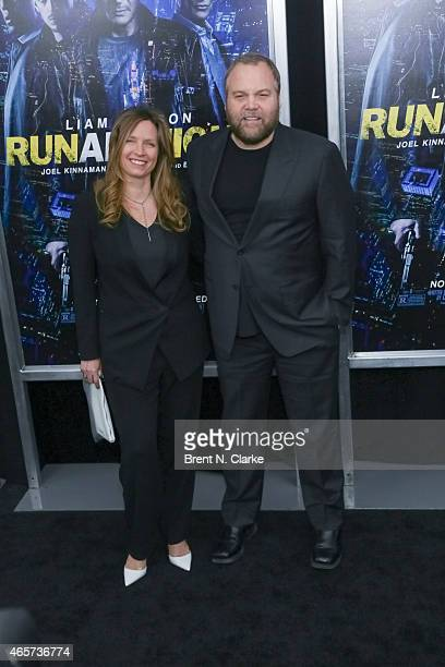 Actor Vincent D'Onofrio and wife Carin van der Donk arrive for the Run All Night New York Premiere at AMC Lincoln Square Theater on March 9 2015 in...