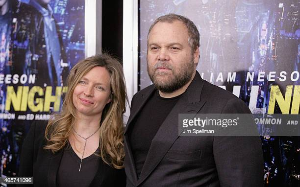 Actor Vincent D'Onofrio and wife Carin van der Donk attend the Run All Night New York premiere at AMC Lincoln Square Theater on March 9 2015 in New...