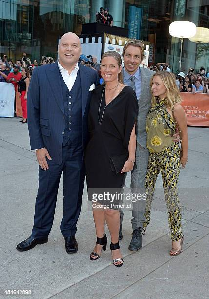 Actor Vincent D'Onofrio Carin van der Donk actors Dax Shepard and Kristen Bell attend The Judge premiere during the 2014 Toronto International Film...