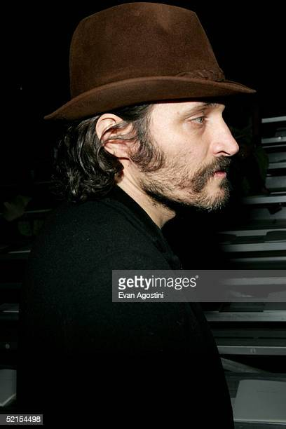 Actor Vincent Gallo attends the Marc Jacobs Fall 2005 show during Olympus Fashion Week at The Armory February 7, 2005 in New York City.