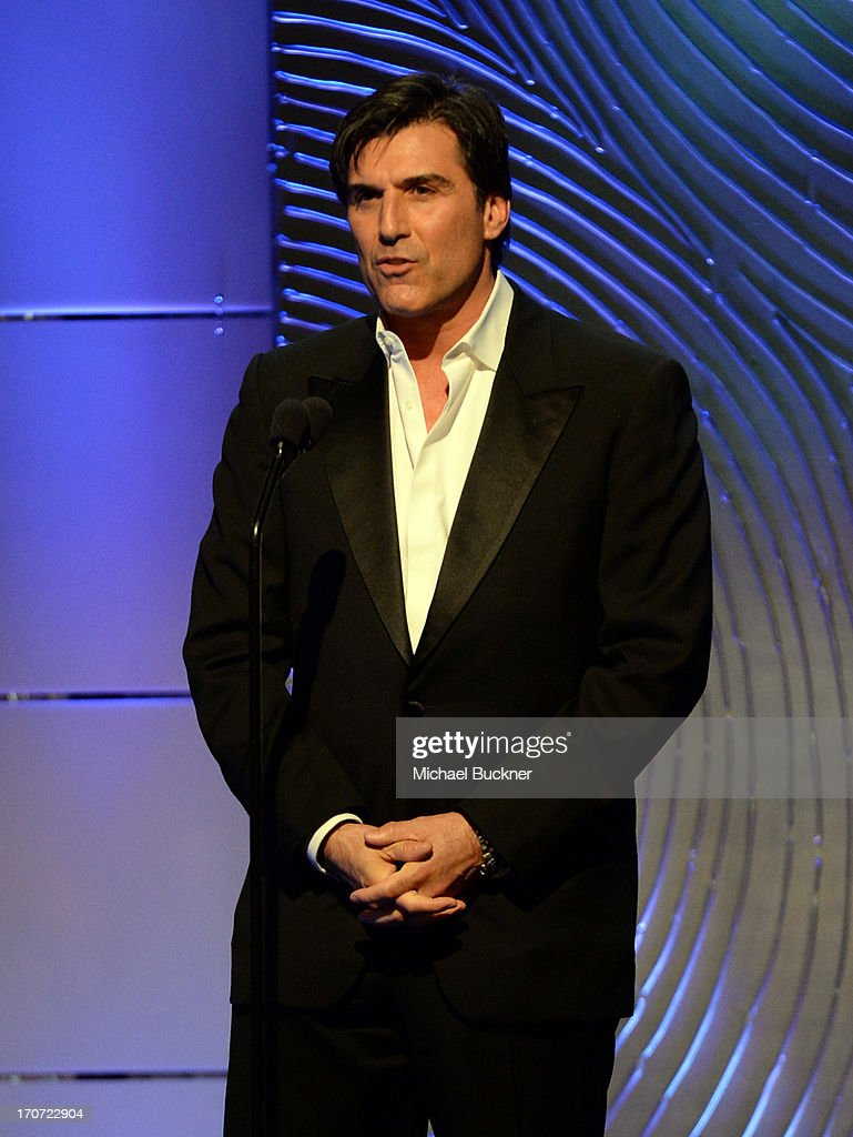 Actor Vincent Irizarry speaks onstage during the 40th Annual Daytime Emmy Awards at the Beverly Hilton Hotel on June 16, 2013 in Beverly Hills, California. 23774_001_2520.JPG