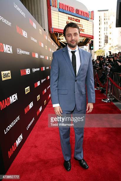 Actor Vincent Kartheiser attends a Mad Men Live Read and Series Finale Event at The Theater at The Ace Hotel on May 17 2015 in Los Angeles California