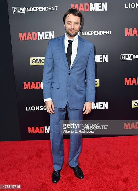 Actor Vincent Kartheiser attends AMC Film Independent and Lionsgate Present Mad Men Live Read at The Theatre at Ace Hotel Downtown LA on May 17 2015...