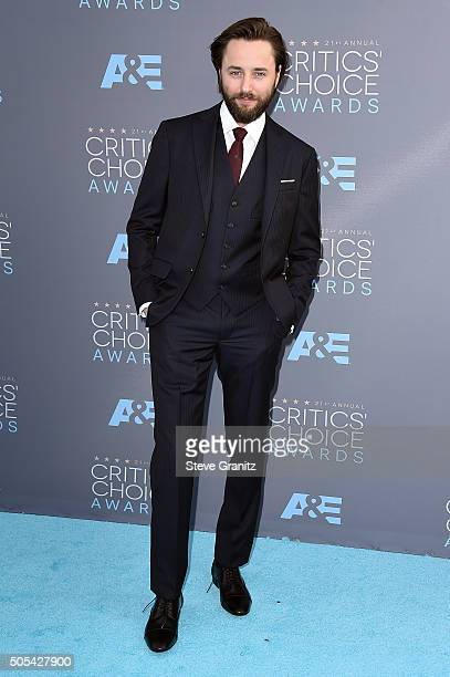 Actor Vincent Kartheiser attends the 21st Annual Critics' Choice Awards at Barker Hangar on January 17 2016 in Santa Monica California