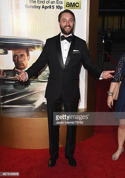 Actor Vincent Kartheiser attends the AMC celebration of the final 7 episodes of Mad Men with the Black Red Ball at the Dorothy Chandler Pavilion on...