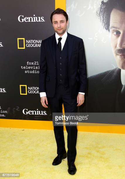 Actor Vincent Kartheiser attends the Los Angeles Premiere Screening of National Geographics 'Genius' the Fox Theater on April 24 2017 in Los Angeles...