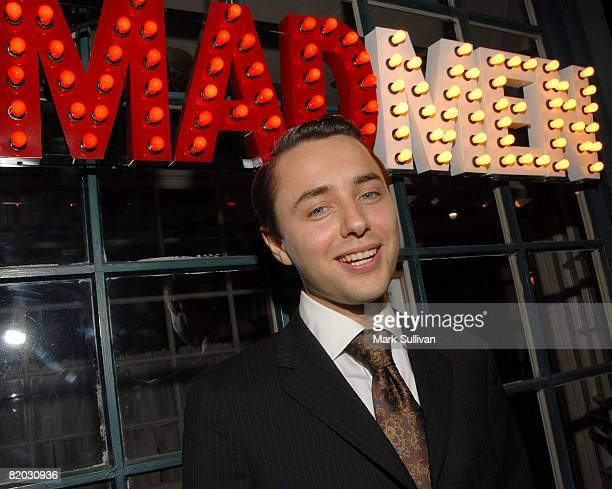 Actor Vincent Kartheiser attends the Second Season Of 'Mad Men' premiere after party held on July 21 2008 in Hollywood California