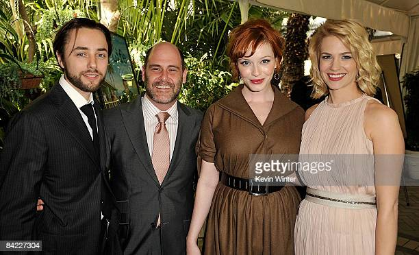 Actor Vincent Kartheiser, creator Matthew Weiner, and actors Christina Hendricks and January Jones arrive at the AFI Awards 2008 held at the Four...