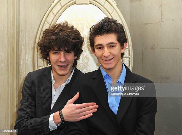 Actor Vincent Lacoste and Actor Anthony Sonigo attend Chaumet's cocktail party for Cesar's Revelations on January 18 2010 in Paris France