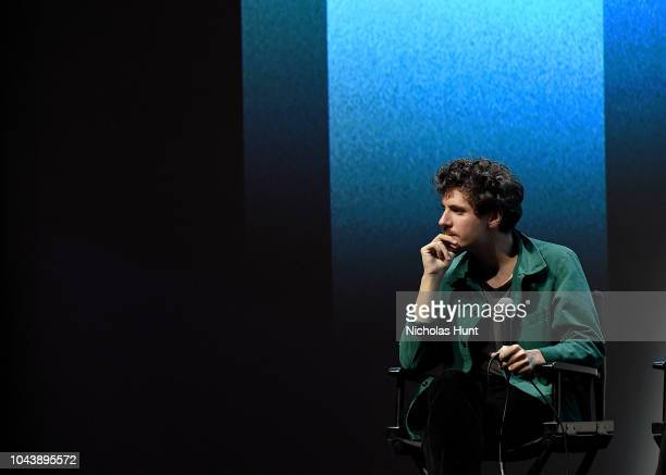 Actor Vincent Lacoste attends QA for Sorry Angel at the 56th New York Film Festival at Alice Tully Hall Lincoln Center on September 30 2018 in New...