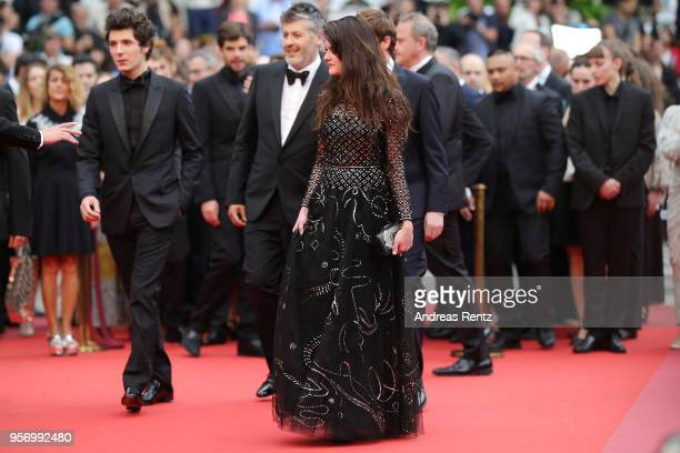 Actor Vincent Lacoste Director Christophe Honore and Adele Wismes attend the screening of 'Sorry Angel ' during the 71st annual Cannes Film Festival...