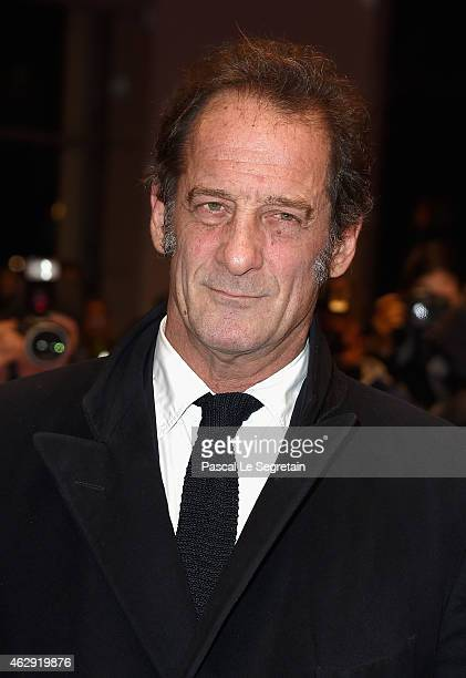 Actor Vincent Lindon attends the 'Diary of a Chambermaid' premiere during the 65th Berlinale International Film Festival at Berlinale Palace on...