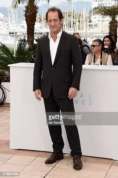 Actor Vincent Lindon attends the 'La Loi Du Marche' Photocall during the 68th annual Cannes Film Festival on May 18 2015 in Cannes France