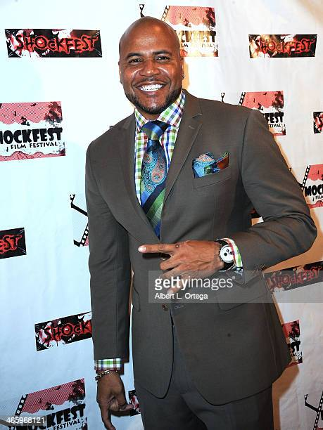 Actor Vincent M Ward attends the ShockFest Film Festival Awards held at Raleigh Studios on January 11 2014 in Los Angeles California