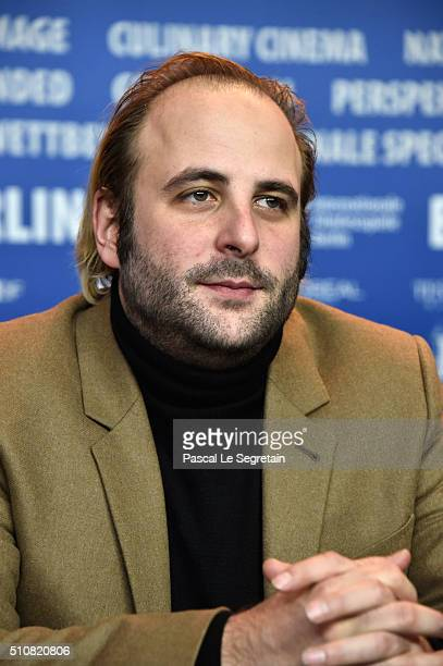Actor Vincent Macaigne attends the 'News from Planet Mars' press conference during the 66th Berlinale International Film Festival Berlin at Grand...