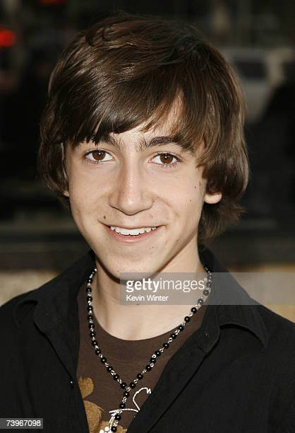 Actor Vincent Martella arrives at a screening of Hollywood Picture's The Invisible at the Bruin Theatre on April 24 2007 in Los Angeles California