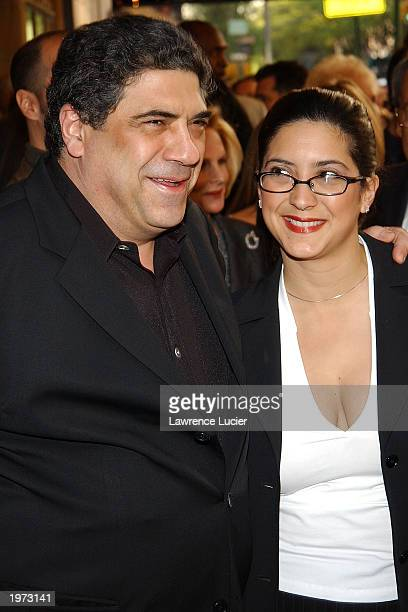 Actor Vincent Pastore and his daughter Renee attend the opening The Look of Love The Songs of Burt Bacharach and Hal David at the Bryant Park Grill...