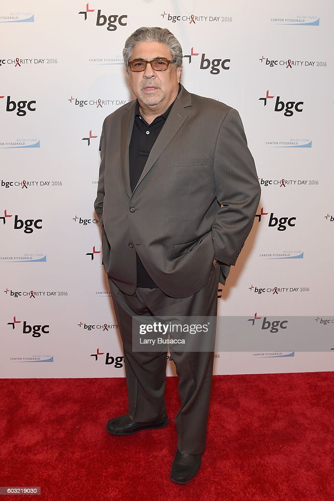 Actor Vincent Pastore attends Annual Charity Day hosted by Cantor Fitzgerald, BGC and GFI at BGC Partners, INC on September 12, 2016 in New York City.