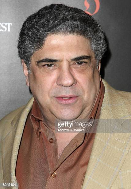 Actor Vincent Pastore attends the 'First Readings A Benefit for Studio Dante' hosted by Architectural Digest at the Rubin Museum March 31 2008 in New...
