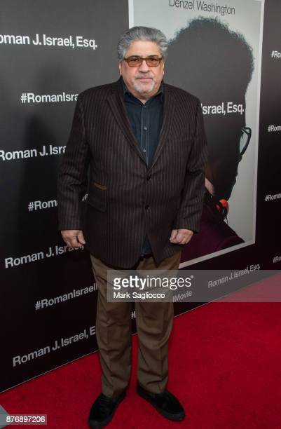 Actor Vincent Pastore attends the Roman J Israel Esquire New York Premiere at Henry R Luce Auditorium at Brookfield Place on November 20 2017 in New...