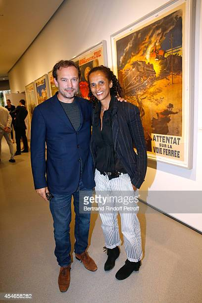 Actor Vincent Perez and his wife Karine Silla attend the 'Jerome Seydoux Pathe Foundation' Opening party on September 4 2014 in Paris France