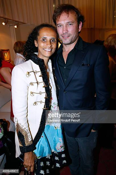 Actor Vincent Perez and his wife Karine Silla attend the Norway National Ballet at Theatre des Champs Elysees on September 22 2014 in Paris France