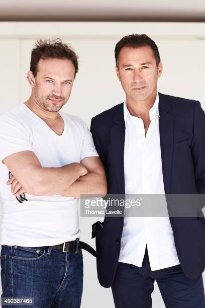 Actor Vincent Perez and producer Marco Pacchioni are photographed for Self Assignment on May 17 2014 in Cannes France
