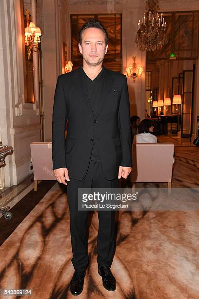 Actor Vincent Perez attends the 6th Chinese Film Festival Press Conference at Hotel Meurice on June 30 2016 in Paris France