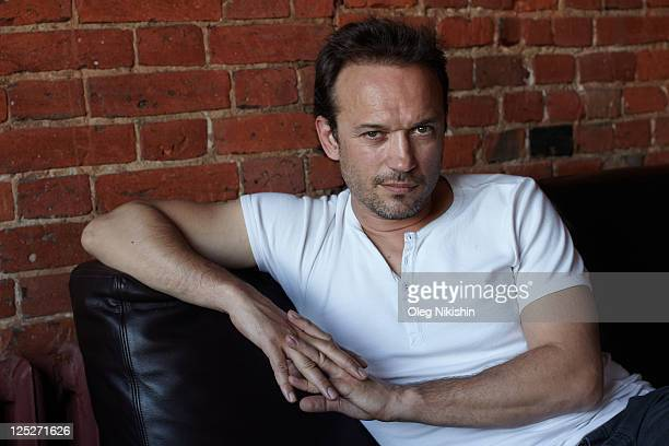 Actor Vincent Perez poses for photo on May 19 2011 in Moscow