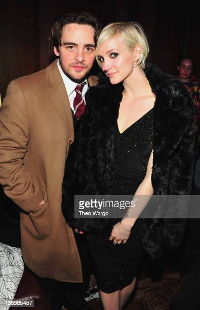Actor Vincent Piazza and Ashlee Simpson attend the Samsung and ATT hosted by rag bone present the 'Fashion Take Note Studio' Valentine's Day Event...