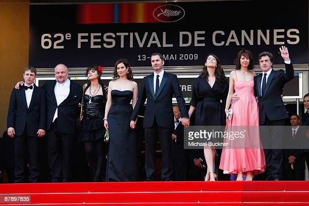 Actor Vincent Rottiers actor Brice Fournier actress Soko actress Emmanuelle Devos director Xavier Giannoli actor Francois Cluzet and his wife Valerie...