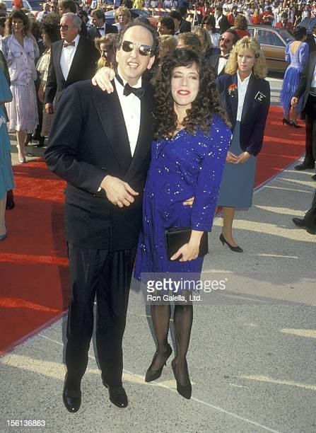 Actor Vincent Schiavelli and Actress Allyce Beasley attend 39th Annual Primetime Emmy Awards on September 20 1987 at Pasadena Civic Auditorium in...