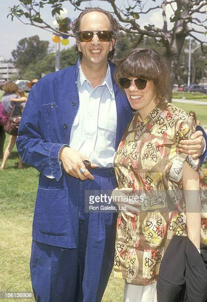 Actor Vincent Schiavelli and Actress Allyce Beasley attend the 'Care for the Children' Public Rally for Better Quality Child Care on April 26 1987 at...