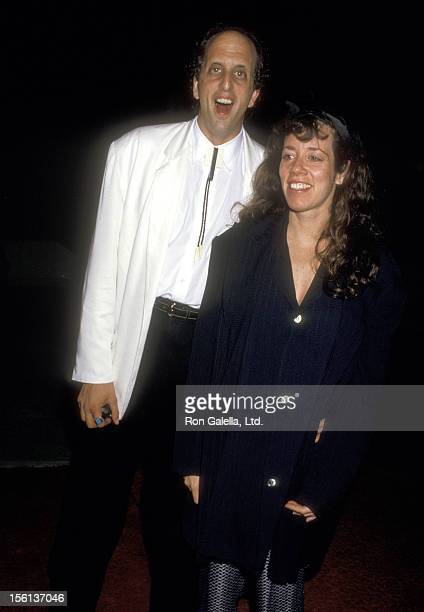 Actor Vincent Schiavelli and Actress Allyce Beasley attend the 'Ishtar' Century City Premiere on May 13 1987 at Plitt's Century Plaza Theatres in...