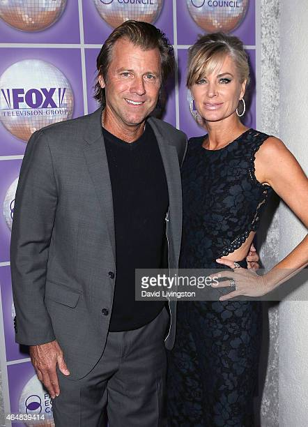 Actor Vincent Van Patten and wife TV personality Eileen Davidson attend the Family Equality Council's Los Angeles Awards Dinner at The Beverly Hilton...