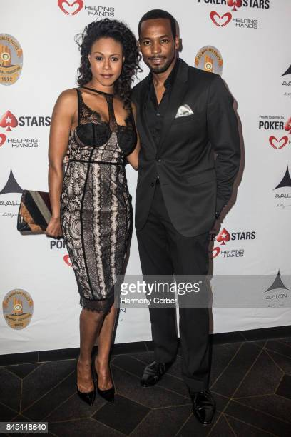 Actor Vinessa Antoine and Actor Anthony Montgomery arrive at 3rd Annual Los Angeles Police Memorial Foundation Celebrity Poker Tournament And Casino...